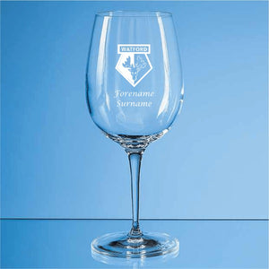 Watford FC Personalised Crest Wine Glass