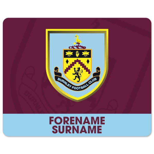 Burnley FC Bold Crest Mouse Mat
