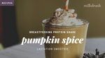 Pumpkin Pie Lactation Protein Shake for Breastfeeding