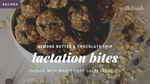 Lactation Bites with Protein and Almond Butter - No-Bake