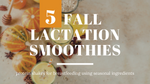 Lactation Smoothie Recipes for Fall - Using Seasonal Ingredients to Help Boost Breastmilk