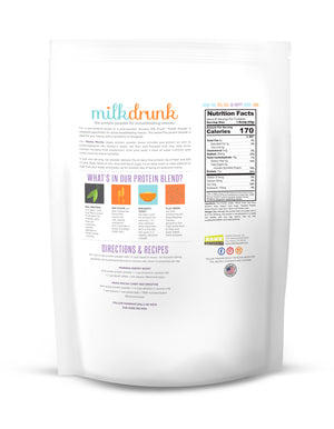 Milk Drunk Mocha breastfeeding protein powder for nursing and pumping mamas with brewer's yeast, oat flour and flaxseed