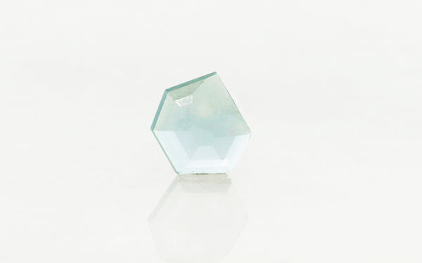 .86 Carat Hand-Cut Light Teal Montana Sapphire rotating view
