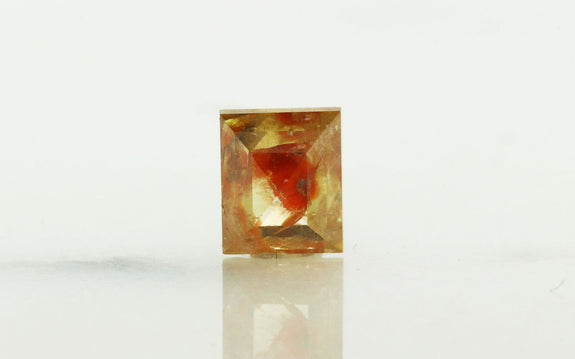 1.26 Carat Rectangle Fiery Peach Cognac Diamond rotating view