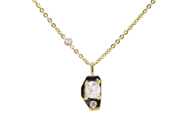 TOBA Necklace in Yellow Gold with .45 Carat Icy White Diamond