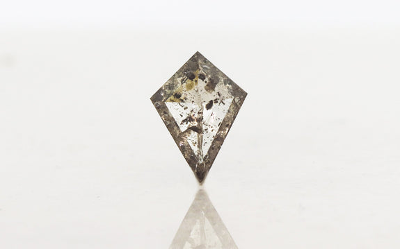 1.60 Carat kite rose cut salt and pepper diamond