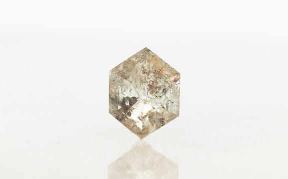 4.16 Carat Hexagon Salt and Pepper Diamond