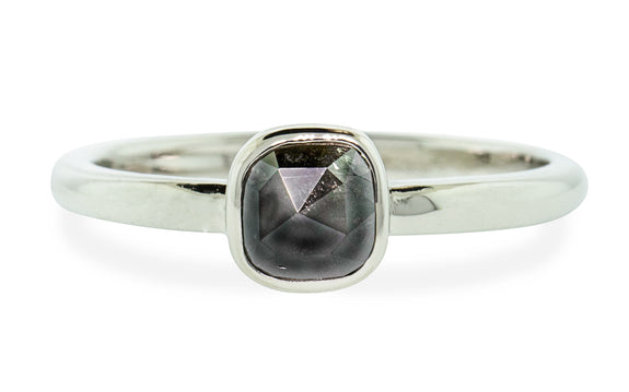 .53 Carat Natural Black Diamond Ring rotating view
