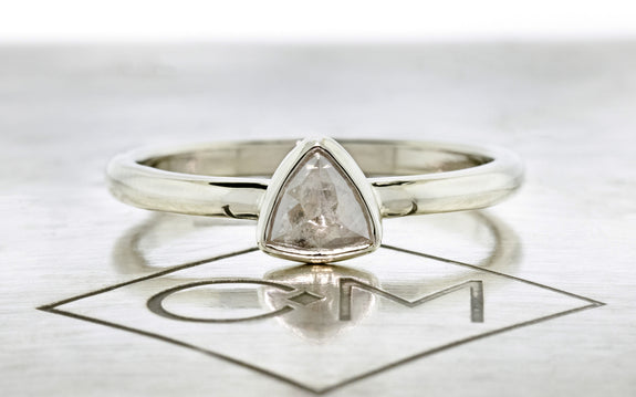 .35 Carat Warm Gray Diamond Ring front view on logo