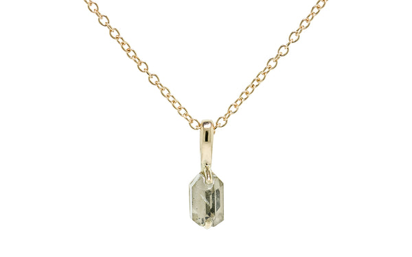 1.18 Carat Montana Sapphire Necklace rotating view