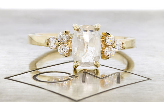 .94 Carat Icy White Diamond Ring front view on logo