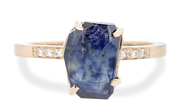 3.08 Carat Hand-Cut Sapphire Ring rotating view