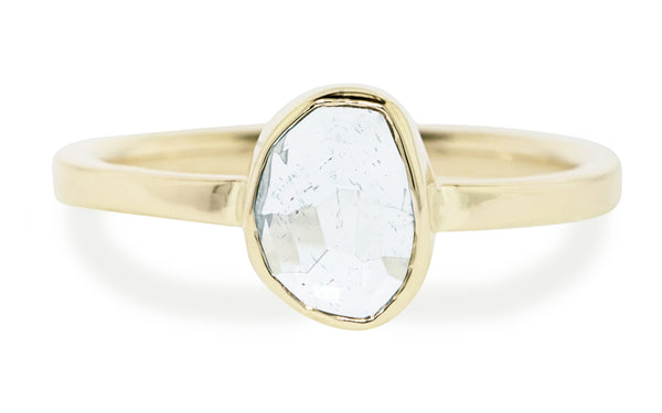 1.52 Carat Aquamarine Ring in Yellow Gold rotating view