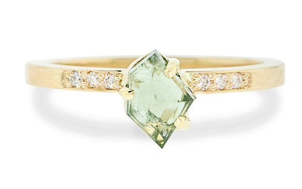 .97 Carat Hand-Cut Green Montana Sapphire Ring rotating view