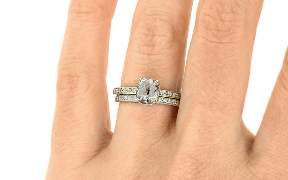 1.42 Carat Salt & Pepper Diamond Ring in White Gold