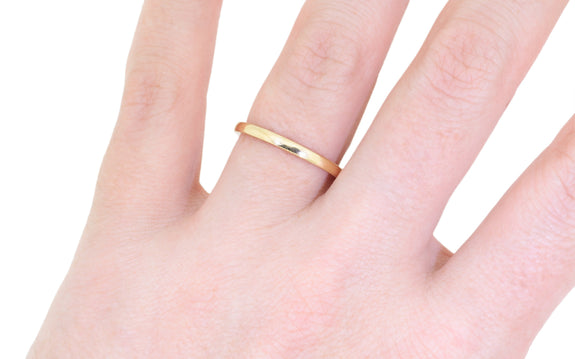 2mm 14k Gold Band in rose gold