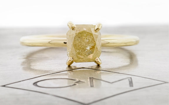 1.38 Carat Daybreak Yellow Diamond Ring in Yellow Gold