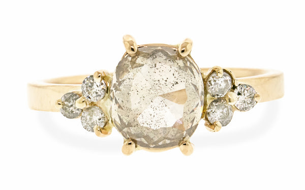1.64 Carat Light Champagne Ring in Yellow Gold
