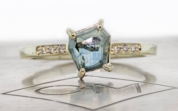1.50 Carat Calypso Blue Montana Sapphire Ring in White Gold