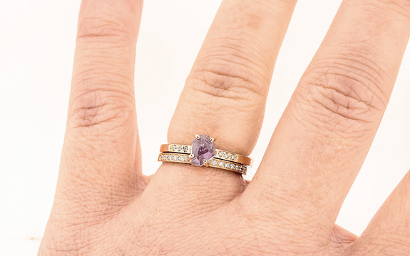 1.13 Carat Hand-Cut Alyssum Pink Sapphire Ring in Rose Gold
