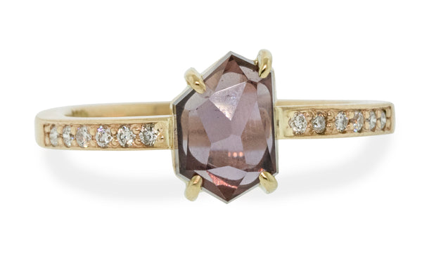 1.60 Carat Hand-Cut Bella Pink Sapphire Ring in Yellow Gold