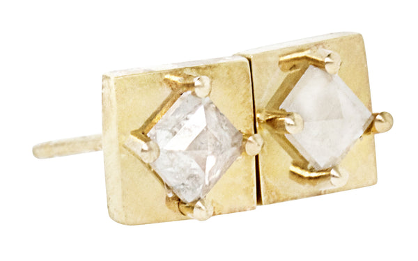 TOBA Earrings in Yellow Gold with .41 Carat Icy White Diamonds
