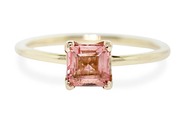 .80 Carat Morganite Ring in Yellow Gold