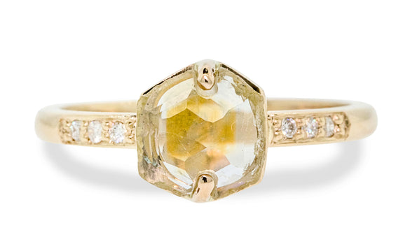 1.80 Carat Montana Sapphire Ring in Yellow Gold