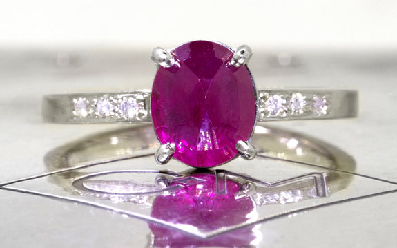 1.75ct Ruby Ring front view
