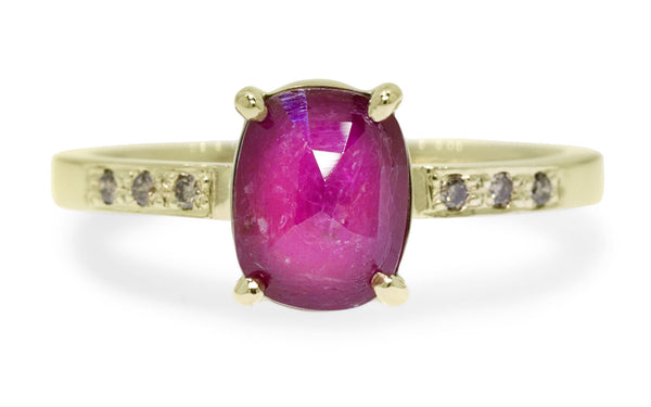 1.52 Carat Ruby Ring in Yellow Gold