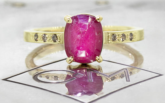1.52ct Ruby Ring front view