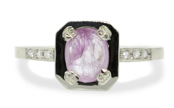 KIKAI Ring in White Gold with 1.01 Carat Pink Sapphire