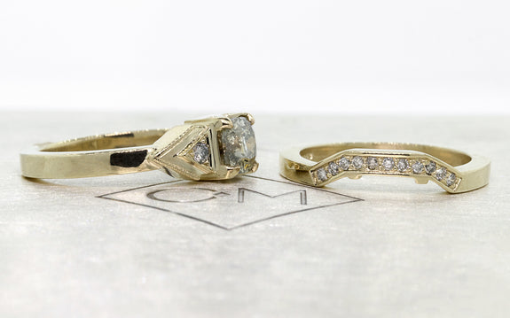 .85ct champagne diamond wedding set on logo
