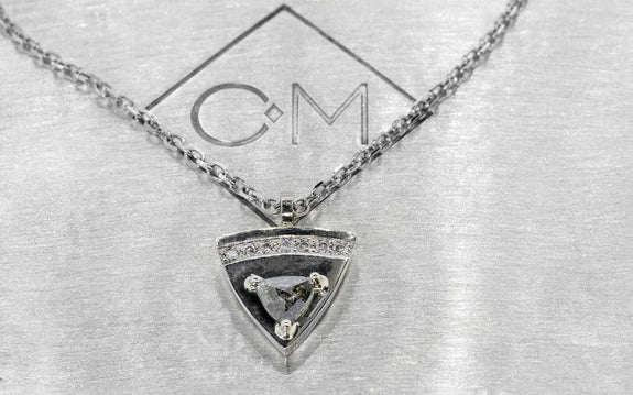 .18ct Salt & Pepper DIamond Necklace on logo