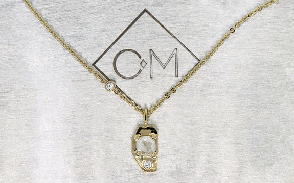 .45ct Icy White Diamond Necklace front view