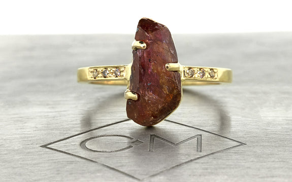 2.77ct Watermelon Tourmaline Ring front view
