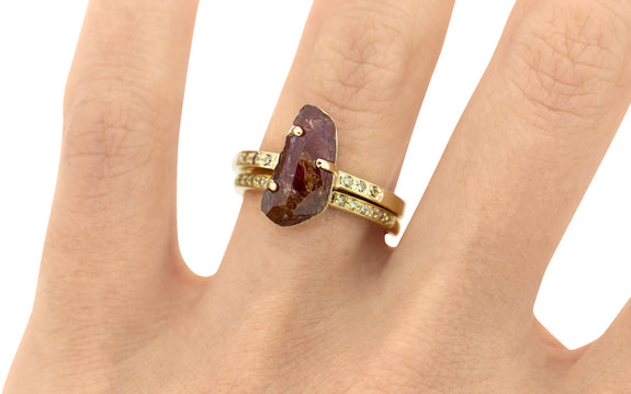 2.77ct Watermelon Tourmaline Ring side view on logo