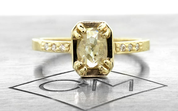 .45ct champagne diamond ring front view