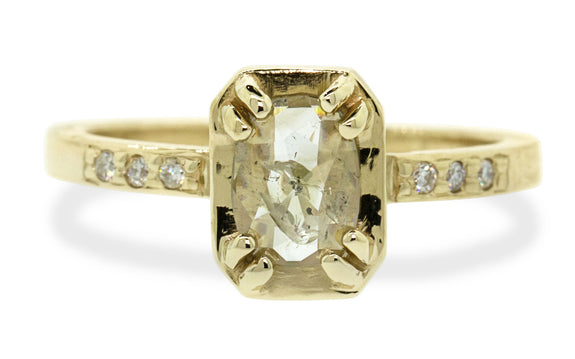 .45ct champagne diamond ring rotating view