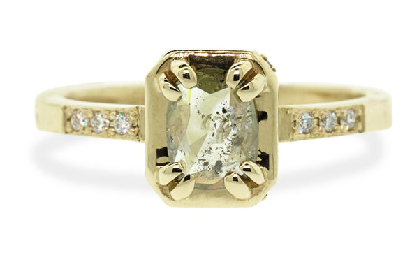 .53ct light champagne diamond ring rotating view
