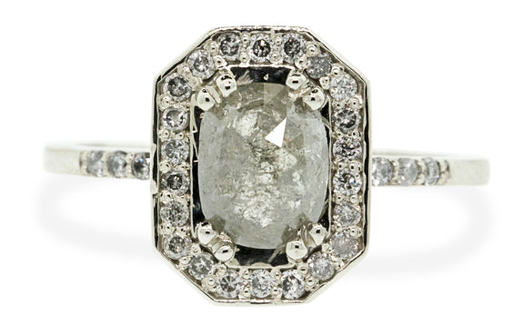 .92ct gray center diamond ring rotating view