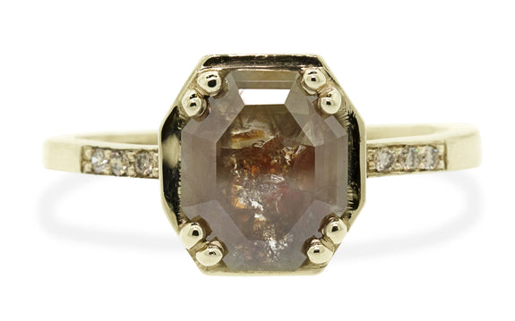 1.49ct cognac/champagne diamond ring rotating view