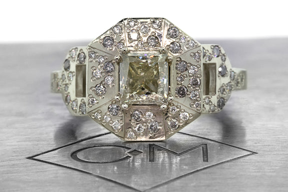 1.15 Champagne Diamond Ring front view