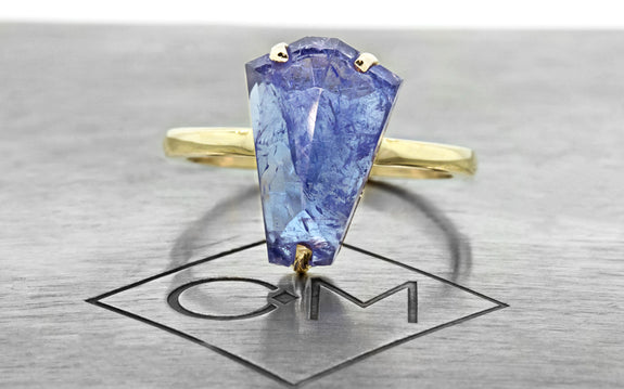 4.08ct Tanzanite Ring front view