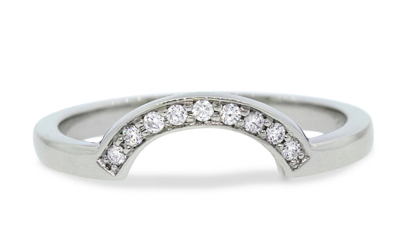 CM Curved Shadow Band with White Diamonds on a model's hand