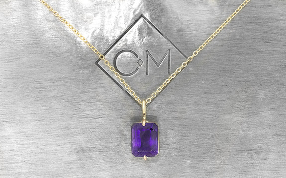 2.6 Amethyst Necklace front view