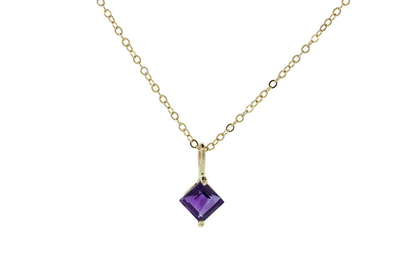 .65 Carat Amethyst Necklace in Yellow Gold