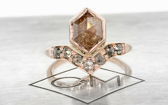 1.96 Carat Rustic Red Diamond Ring in Rose Gold
