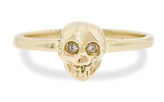 Diamond Skull Ring rotating view