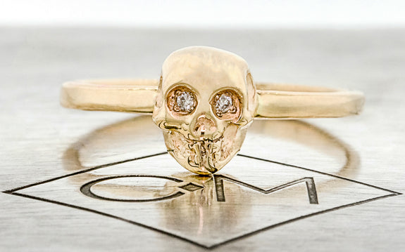 Diamond Skull Rings on logo